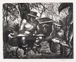 Joseph P. DiGemma (American, born 1910). In the Burma Jungles, 1946. Etching on wove paper, Plate: 79 15/16 x 99 5/8 in. (203 x 253 cm). Brooklyn Museum, Dick S. Ramsay Fund, 47.57. © artist or artist's estate