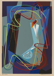 James Houston McConnell (American, 1914-1988). Head, Number Three, 1946. Serigraph on cream-colored wove paper, Image: 13 1/16 x 9 1/16 in. (33.2 x 23 cm). Brooklyn Museum, Gift of Samuel Golden, 47.94.13. © artist or artist's estate
