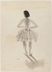 Susanne Suba (American, born Hungary, 1913-2012). Ballet Dancer, 20th century. Pen and ink and wash on paper, sheet: 18 15/16 x 13 5/8 in. (48.1 x 34.6 cm). Brooklyn Museum, Dick S. Ramsay Fund, 48.100.1. © artist or artist's estate