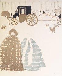 Pierre Bonnard (French, 1867-1947). Nannies' Promenade, Frieze of Carriages (La Promenade des nourrices, frise de fiacres), detail of second panel, 1895. Color lithograph on wove paper, Image: 23 15/16 x 18 3/16 in. (60.8 x 46.2 cm). Brooklyn Museum, Caroline A.L. Pratt Fund, 49.101.2. © artist or artist's estate