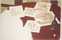 Pierre Bonnard (French, 1867-1947). Cover for the second Album d'estamples originales de la Galerie Vollard, 1897. Color lithograph on wove paper, Image: 22 1/4 x 33 5/16 in. (56.5 x 84.6 cm). Brooklyn Museum, Caroline A.L. Pratt Fund, 49.101.3. © artist or artist's estate