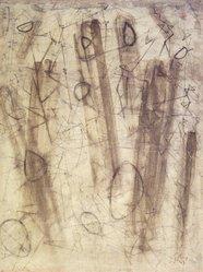 Mark Tobey (American, 1890-1976). Island Memories, 1947. Watercolor on paper, 24 3/4 x 18 3/4 in. (62.9 x 47.6 cm). Brooklyn Museum, Henry L. Batterman Fund, 49.117. © artist or artist's estate