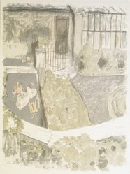 Édouard Vuillard (French, 1868-1940). The Garden in Front of the Studio (Le Jardin devant l'atelier), 1901. Color lithograph on wove paper, Image: 24 1/2 x 18 5/8 in. (62.2 x 47.3 cm). Brooklyn Museum, A. Augustus Healy Fund and Museum Collection Fund, 49.34. © artist or artist's estate