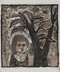 Eleanor Coen (American, born 1916). Child and a Tree, 1948. Lithograph on wove paper, Image: 12 1/8 x 11 1/8 in. (30.8 x 28.3 cm). Brooklyn Museum, 49.72. © artist or artist's estate