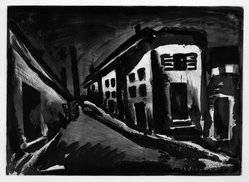 Georges Rouault (French, 1871-1958). Rue des Solitaires., 1922. Etching, aquatint, and heliogravure on laid Arches paper, 14 3/8 x 19 15/16 in. (36.5 x 50.6 cm). Brooklyn Museum, Frank L. Babbott Fund, 50.15.23. © artist or artist's estate