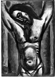 "Georges Rouault (French, 1871-1958). ""Jésus Sera en Agonie Jusqu'à la Fin du Monde…,"" 1926. Etching, aquatint, and heliogravure on laid Arches paper, 22 15/16 x 16 1/4 in. (58.3 x 41.3 cm). Brooklyn Museum, Frank L. Babbott Fund, 50.15.35. © artist or artist's estate"