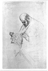 Pierre Bonnard (French, 1867-1947). Portrait of Ambroise Vollard (Portrait d'Ambroise Vollard), ca. 1924. Etching on heavy laid paper, Image (Plate): 13 5/8 x 9 in. (34.6 x 22.9 cm). Brooklyn Museum, Frederick Loeser Fund, 50.164.6. © artist or artist's estate