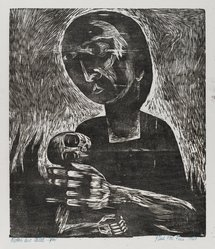 Paul Peter Piech (American, 1920-1996). Mother and Child, 1949. Woodcut on paper, sheet: 15 x 13 3/8 in. (38.1 x 34 cm). Brooklyn Museum, Gift of the artist, 51.152.1. © artist or artist's estate