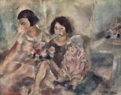 Jules Pascin (French, 1885-1930). Three Girls, ca. 1925. Oil on canvas, 28 5/8 x 36 3/16 in. (72.7 x 91.9 cm). Brooklyn Museum, Bequest of Samuel A. Lewisohn, 51.214. © artist or artist's estate