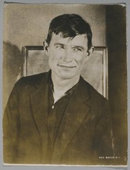 Rex Beach (American). Portrait of Will Rogers. Photograph, sheet: 8 1/2 x 6 1/2 in. (21.6 x 16.5 cm). Brooklyn Museum, Gift of Sam Day, 51.242