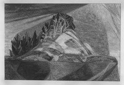 Bill Bomar (American, born 1919). White Island, 1949. Pastel on heavy paper, 15 1/4 x 22 1/2 in. (38.7 x 57.2 cm). Brooklyn Museum, Dick S. Ramsay Fund, 51.93. © artist or artist's estate