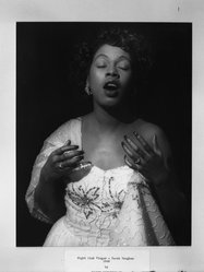 Joseph Breitenbach (American, 1896-1984). Night Club Singer, Sarah Vaughan, 1949. Gelatin silver photograph, 14 x 11 in. (35.6 x 27.9 cm). Brooklyn Museum, Gift of the artist, 52.163.1. © artist or artist's estate