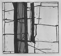 Robert Conover (American, 1920-1998). Doorway, 1951. Woodcut in color on cream-colored newsprint, 12 3/16 x 13 7/16 in. (30.9 x 34.2 cm). Brooklyn Museum, Dick S. Ramsay Fund, 52.20. © artist or artist's estate