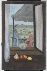 Abraham Walkowitz (American, born Siberia, 1878-1965). View from my Window, 1931. Oil on canvas, 40 x 26 in. (101.6 x 66 cm). Brooklyn Museum, Gift of the artist, 53.96. © artist or artist's estate