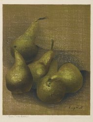 Luigi Rist (American, 1888-1959). Pears, n.d. Woodcut on paper, image: 9 x 7 1/4 in. (22.9 x 18.4 cm). Brooklyn Museum, Dick S. Ramsay Fund, 54.107.1. © artist or artist's estate