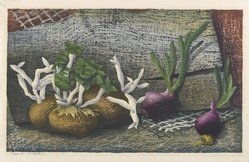Luigi Rist (American, 1888-1959). Sprouts, 1952. Woodcut on paper, 9 1/2 x 15 5/8 in. (24.1 x 39.7 cm). Brooklyn Museum, Dick S. Ramsay Fund, 54.107.2. © artist or artist's estate