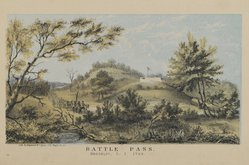 Hayward and Lepine. Battle Pass, Brooklyn, L. I.. Lithograph, Image: 3 3/4 x 6 5/8 in. (9.5 x 16.8 cm). Brooklyn Museum, Dick S. Ramsay Fund, 54.137.4