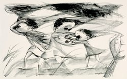 Elizabeth Engelhard. Wind, 1954. Lithograph, Sheet: 18 7/8 x 24 7/8 in. (47.9 x 63.2 cm). Brooklyn Museum, Gift of Artists Equity, Chicago Chapter, 54.153.1. © artist or artist's estate