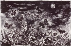 June Lukosh. Summer Night, 1954. Lithograph, Sheet: 18 7/8 x 24 7/8 in. (47.9 x 63.2 cm). Brooklyn Museum, Gift of Artists Equity, Chicago Chapter, 54.153.22. © artist or artist's estate