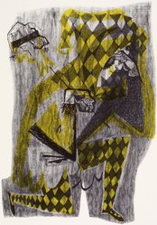 Ted Carr. Pierrot, 1954. Lithograph, Sheet: 18 7/8 x 24 7/8 in. (47.9 x 63.2 cm). Brooklyn Museum, Gift of Artists Equity, Chicago Chapter, 54.153.27. © artist or artist's estate