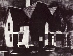 Norbert Smith. Old House, 1954. Lithograph, Sheet: 18 7/8 x 24 7/8 in. (47.9 x 63.2 cm). Brooklyn Museum, Gift of Artists Equity, Chicago Chapter, 54.153.30. © artist or artist's estate