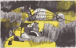 Franklin McMahon. Farm Machinery, 1954. Lithograph, Sheet: 18 7/8 x 24 7/8 in. (47.9 x 63.2 cm). Brooklyn Museum, Gift of Artists Equity, Chicago Chapter, 54.153.35. © artist or artist's estate