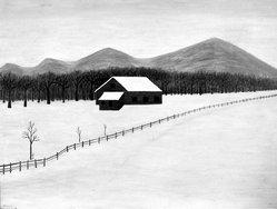 Emile Branchard (American, 1881-1938). Snow Scene, ca. 1920s-1930s. Oil on canvas, 22 1/8 x 28 in. (56.2 x 71.1 cm). Brooklyn Museum, Bequest of Margaret S. Lewisohn, 54.156. © artist or artist's estate