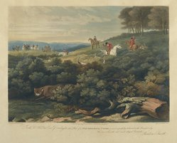 Meadows and Lewis. Fox Breaking Cover. Engraving Brooklyn Museum, Gift of Harry W. Havemeyer, 54.34.8