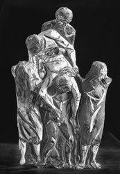 Agenore Fabbri (Italian, born 1911). Death of the Partisan (Deposition). Glazed terra cotta, 19 x 9 x 3 in. (48.3 x 22.9 x 7.6 cm). Brooklyn Museum, Gift of the Italian Government, 54.65.5. © artist or artist's estate