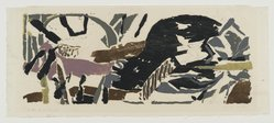 Perle Fine (American, 1908-1988). Wide to the Wind, 1955. Color woodcut, Image: 12 x 28 in. (30.5 x 71.1 cm). Brooklyn Museum, Dick S. Ramsay Fund, 55.57. © artist or artist's estate
