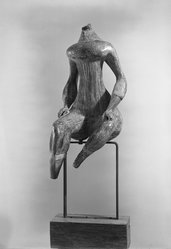 Luciano Minguzzi (Italian, 1911-2004). Torso di Donna. Bronze, 47 x 24 1/2 x 68 1/2 in.  (119.4 x 62.2 x 174.0 cm); height with pedestal: 68 1/2 in. (174.0 cm). Brooklyn Museum, Carll H. de Silver Fund and Museum Collection Fund, 56.172. © artist or artist's estate