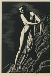 Rockwell Kent (American, 1882-1971). Precipice, 1927. Wood engraving (maple block) on white wove paper, Sheet: 11 3/8 x 8 13/16 in. (28.9 x 22.4 cm). Brooklyn Museum, Gift of Erhart Weyhe, 56.4.29. © artist or artist's estate