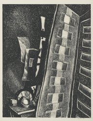 Wanda Gág (American, 1893-1946). Two Doors. Lithograph on white wove paper, 11 1/8 x 8 5/8 in. (28.3 x 21.9 cm). Brooklyn Museum, Gift of Erhart Weyhe, 56.4.31. © artist or artist's estate