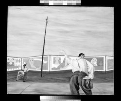 Robert Gwathmey (American, 1903-1988). The Hitch-hiker, ca 1936. Oil on panel, panel: 30 x 36 in.  (76.2 x 91.4 cm). Brooklyn Museum, Gift of David A. Teichman, 57.46. © artist or artist's estate