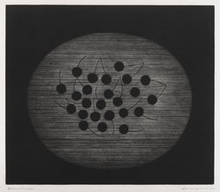 Hamaguchi Yozo (Japanese, 1909-2000). Still Life, 1956. Mezzotint, 11 5/8 x 13 1/2 in. (29.5 x 34.3 cm). Brooklyn Museum, Charles Stewart Smith Memorial Fund, 57.88.1. © artist or artist's estate