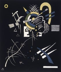 Wassily Kandinsky (Russian, 1866-1944). Small Worlds VII (Kleine Welten VII), 1922. Transfer lithograph of color woodcut in blue, yellow, green, and black on wove paper, Image: 10 5/8 x 9 3/16 in. (27 x 23.3 cm). Brooklyn Museum, Gift of Stephen Currier, 58.108.11. © artist or artist's estate