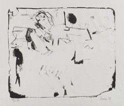 Larry Rivers (American, 1923-2002). The Winged Girl, 1958. Lithograph on paper, image: 10 x 11 3/4 in. (25.4 x 29.8 cm). Brooklyn Museum, Dick S. Ramsay Fund, 58.169.2. © artist or artist's estate
