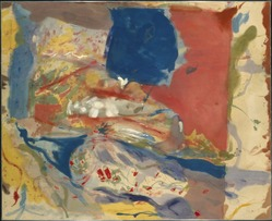 Helen Frankenthaler (American, 1928-2011). Lorelei, 1957. Oil on untreated cotton duck, Frame: 75 x 91 7/8 x 2 1/2 in. (190.5 x 233.4 x 6.4 cm). Brooklyn Museum, Purchase gift of Allan D. Emil, 58.39. © artist or artist's estate
