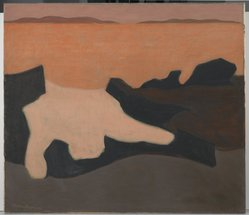 Milton Avery (American, 1885-1965). Sunset, 1952. Oil on canvas, 42 1/4 x 48 1/8 in. (107.3 x 122.2 cm). Brooklyn Museum, Gift of Roy R. & Marie S. Neuberger Foundation, Inc., 58.40. © artist or artist's estate