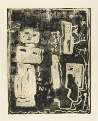 Louise Nevelson (American, born Russia, 1899-1988). The Ancient Garden, 1952-1954. Etching on paper, sheet: 27 1/4 x 21 7/8 in. (69.2 x 55.6 cm). Brooklyn Museum, Dick S. Ramsay Fund, 58.44.1. © artist or artist's estate