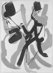 Vevean Oviette (Austrian, 1918-1990). The Dance - Variation II, 1958. Woodcut on paper, image: 23 1/2 x 17 1/2 in. (59.7 x 44.5 cm). Brooklyn Museum, Dick S. Ramsay Fund, 58.51. © artist or artist's estate
