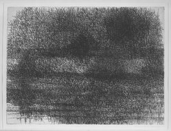 Richard Claude Ziemann (American, born 1932). Landscape 224, 1958. Etching on paper, 17 1/2 x 23 3/4 in. (44.5 x 60.3 cm). Brooklyn Museum, Dick S. Ramsay Fund, 58.54. © artist or artist's estate