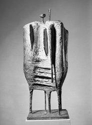 Kenneth Armitage. The Sentinels, 1955. Bronze, 39 7/8 x 16 7/8 x 15 1/4 in. (101.3 x 42.9 x 38.7 cm). Brooklyn Museum, Carll H. de Silver Fund, 58.5. © artist or artist's estate