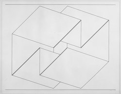 Josef Albers (American, 1888-1976). Structural Constellation, 1956. Pen and ink on paper, 15 7/8 x 12 1/2 in. (40.3 x 31.8 cm). Brooklyn Museum, Dick S. Ramsay Fund, 58.8. © artist or artist's estate