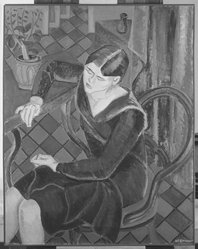 Abraham F. Levinson (American, 1883-1946). Adele Levinson Ernst. Oil on canvas, Other: 38 x 30 in. (96.5 x 76.2 cm). Brooklyn Museum, Gift of Mrs. A. F. Levinson, 59.89. © artist or artist's estate