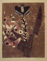 Rolf Nesch (Norwegian, 1893-1975). Arrow Flower, 1952-1953. Intaglio on wove paper, 8 11/16 x 6 7/8 in. (22.1 x 17.5 cm). Brooklyn Museum, Frank L. Babbott Fund, 60.125.2. © artist or artist's estate