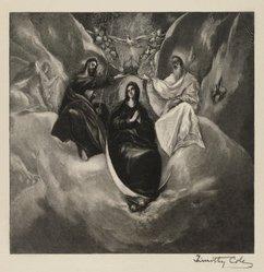 Timothy Cole (American, 1852-1931). Coronation of the Virgin, after El Greco, n.d. Wood engraving Brooklyn Museum, Gift of Margaret Mower, 60.56. © artist or artist's estate