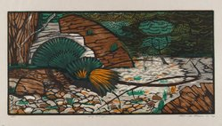 Roderick Mead (American, 1900-1971). Dry Arroyo, 1961. Woodcut on paper, image: 8 x 15 7/8 in. (20.3 x 40.3 cm). Brooklyn Museum, Gift of Mrs. Roderick Mead, 61.238.9. © artist or artist's estate