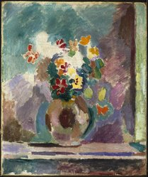 Henri Matisse (French, 1869-1954). Flowers (Fleurs), 1906. Oil on canvas, 21 5/8 x 18 1/8 in. (54.9 x 46 cm). Brooklyn Museum, Gift of Marion Gans Pomeroy, 61.243. © artist or artist's estate