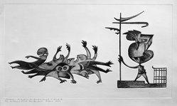 Guillermo Silva Santamaria (Colombian, born 1921). Massacre, 1960. Embossed engraving on paper, sheet: 12 15/16 x 19 15/16 in. (32.9 x 50.6 cm). Brooklyn Museum, Carll H. de Silver Fund, 61.5.7. © artist or artist's estate